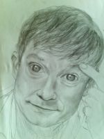 martin freeman portrait sketch by AqilBeatDynamic