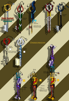 DF contest-Keyblade designs by darksorasan