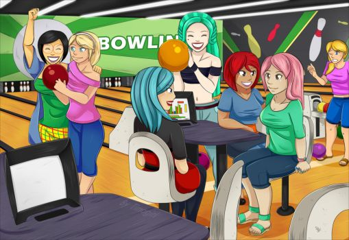 Bowling Day - Commission - by Timagirl
