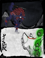 .:+Oki Vs Amaterasu+:. by FrostBlaze442