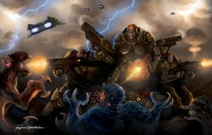 Spacemarines - Last stand by Shockbolt
