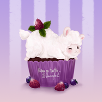 Chocolate Raspberry Sheepcake by Flurryfox