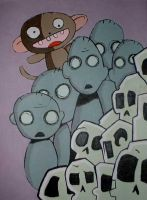 zombies and monkeys and skulls by happycabbage777