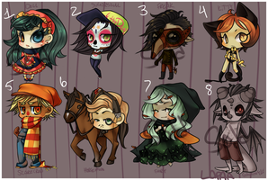 Adoptables: Halloween! by lapaa