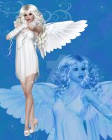 Blue Angel by NaughtyGirlGraphics