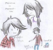 marceline and marshall lee by NinjaKatie95