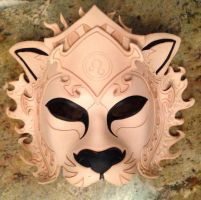 WIP Leo Lion Zodiac Leather Mask by b3designsllc