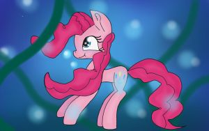 Pinkie is swimming  by anuadhi