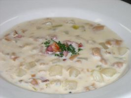 New England Clam Chowder by FrogsRSexy