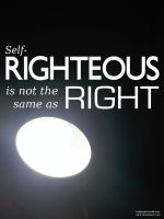 self-righteousness by Jon-Wood