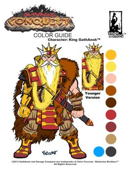KING GATH color guide by ChrisFaccone