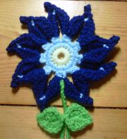 Flower Bookmark for SIL by crochetamommy