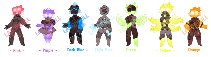 ADOPTABLES :: Minior Anthros! [OPEN] by LabonBull
