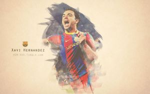 Xavi Painted Wallpaper by HGM-Barca