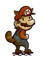 Raccoon Mario by Mr-DNA