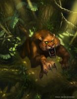 Sabretooth Pounce by Concept-Art-House