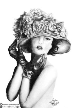 Flower hat by barbara-art