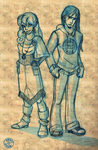 Two characters by Ermy