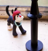 Wakko and the lightpost by DaisyDayes