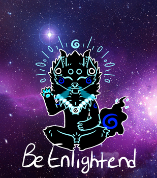 Be Enlightened STICKER! by MindElectric