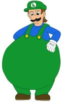 Chubby Luigi for IWatchCartoons715 by MCsaurus