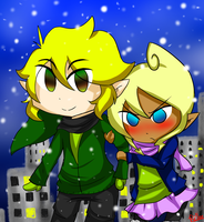 Tetra x Link: Happy New Year by mechubear