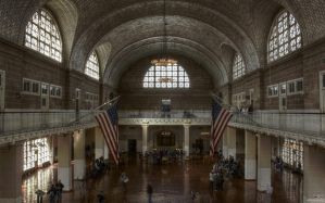 The Inspection Room , Ellis Island - HDR by TiKy2010