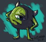Monsters, Inc.=mike wazowski by hummeri9