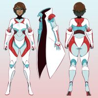 Dr.Meagan Heart: white and red suit by HEARTZMD