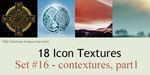 18 icon textures - contextures, part 1 (set#16) by larmay