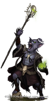 Dog-face Kobold necromancer by Akeiron