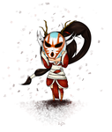 Blood Moon Akali by pocketplanets