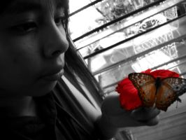 The Girl and the butterfly by Mokona88