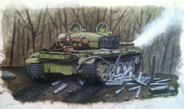 T-62 on break at fire position by starcropduster
