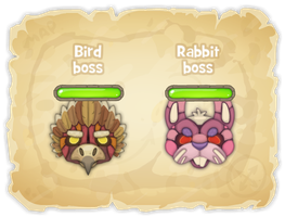 Bosses for flash game 'Gemaica' by Pykodelbi