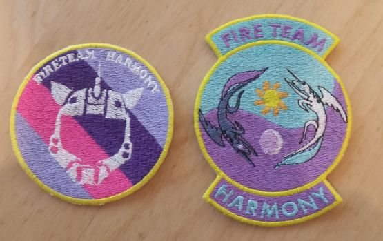 Fire Team Harmony Unit Patches by EthePony
