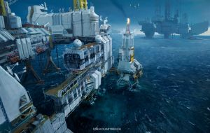 Oil rigs by jonone