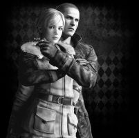 RE6 Jake Muller x Sherry Birkin wallpaper by Kijuju8
