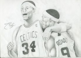 WIP: Paul Pierce And Rondo by BryanChalas