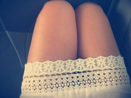 lace upon my legs by sentinellephoto