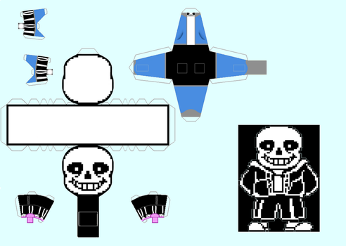Papercraft Sans - Undertale by Snickercole