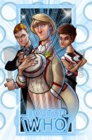 Fifth Doctor, Tegan and Turlough by jonpinto