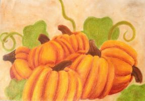 Fall Pumpkins by CPT-CUPCAKE-art