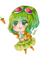 Gumi Vocaloid Chibi by KyouKaraa