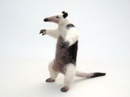 Needle felted tamandua or lesser anteater by creturfetur