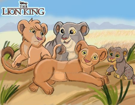 The Lion King - Nala and her Siblings by imaginativegenius099