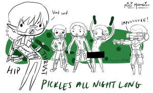 Pickles all night Long by Missi-Moonshine