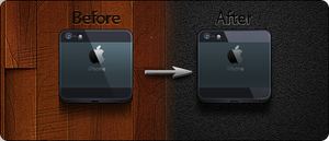 iPhone 5 icon (Black) - Jaku iOS Theme by iGeriya