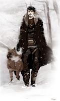 Hawke in the snow by go-ma