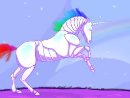 Robot unicorn pic by Shadowflier